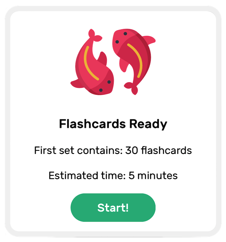 Mandarin Spark - Start a Flashcard Test
